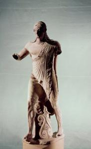 Apollo of Veii, from the Temple of Minerva, c.510 BC by Etruscan