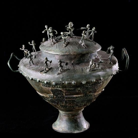 Etruscan Art : Bronze Funerary Urn--Photographic Print