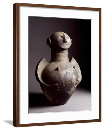 Etruscan Art: Pregnant Woman Shaped Cinerary Vase--Framed Photographic Print