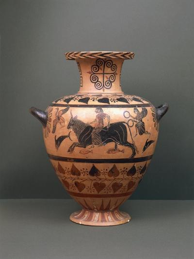 Etruscan Civilization, Black-Figure Pottery, Hydria Depicting 'The Abduction of Europe'--Giclee Print