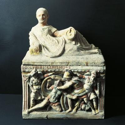Etruscan Civilization, Urn Depicting Duel Between Eteocles and Polynices--Giclee Print