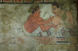 Detail of a Mural from the Tomb of the Infernal Quadriga by Etruscan