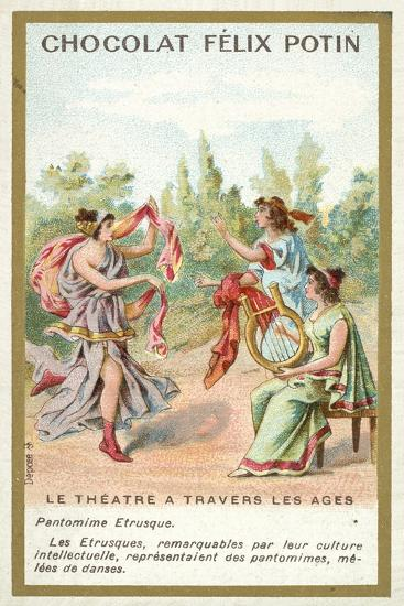 Etruscan Pantomime--Giclee Print