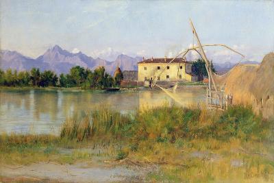 Etruscan Scene, the Carrara Mountains-Matthew Ridley Corbet-Giclee Print