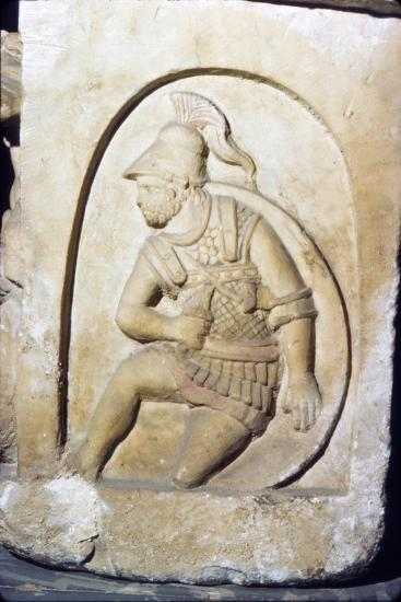 Etruscan Soldier wearing early Chain Mail, Sarcophagus, Chiusi, c3rd century BC-2nd Century BC-Unknown-Giclee Print