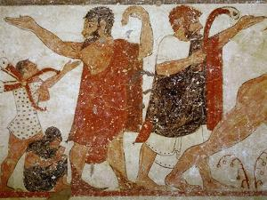 Two Men, from the Tomb of the Augurs, c.530-520 BC by Etruscan