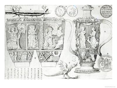 Etruscan Vase and Designs, 1749--Giclee Print