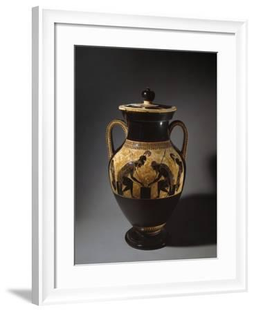 Etruscan Vase Depicting Achilles and Ajax Playing Dice--Framed Photographic Print