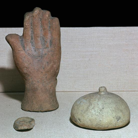 Etruscan votive offerings from a sanctuary of healing-Unknown-Giclee Print