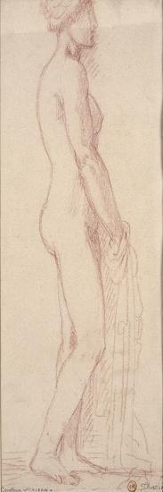 Etude d'après le modèle pour les filles de Thespius-Gustave Moreau-Giclee Print