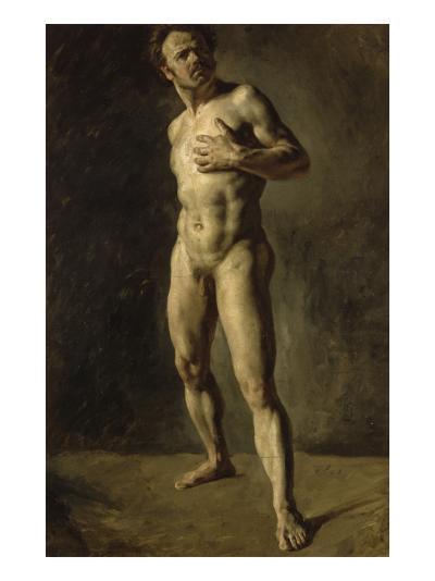 Etude d'homme nu-Eugene Delacroix-Giclee Print