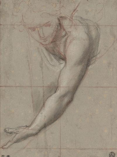 Etude d'un buste de jeune femme drapée penchée en avant-Antoine Coypel-Giclee Print