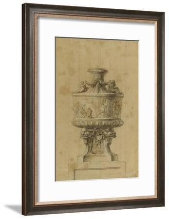 Etude d'un vase orné d'un bas-relief--Framed Giclee Print