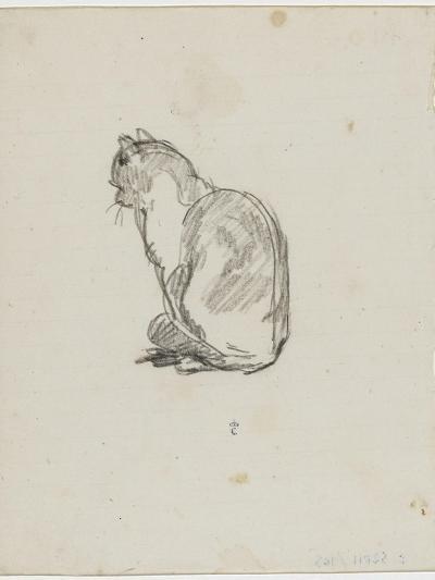 Etude de chat (Villiers)-Thomas Couture-Giclee Print