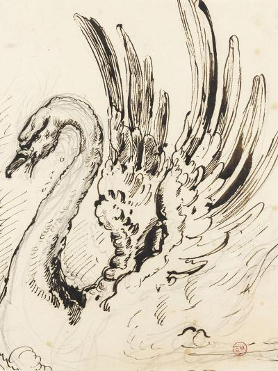 Etude de cygne pour Léda-Gustave Moreau-Giclee Print