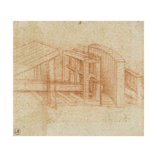 Etude de machine-Leonardo da Vinci-Giclee Print