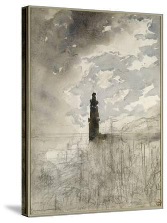 Etude de paysage-Gustave Moreau-Stretched Canvas Print