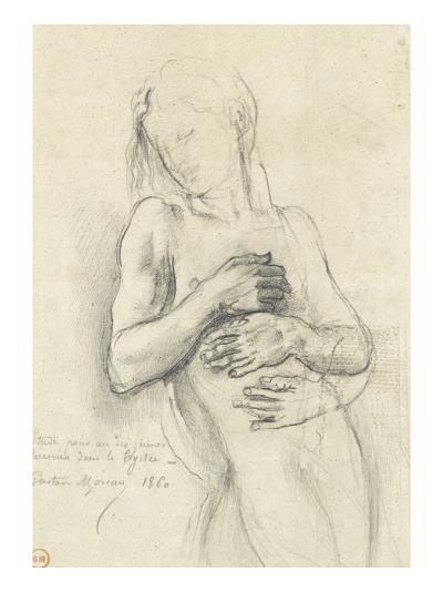 Etude de personnage pour Tyrtée-Gustave Moreau-Giclee Print