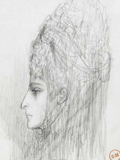 """Etude de tête pour """"Salomé""""-Gustave Moreau-Giclee Print"""