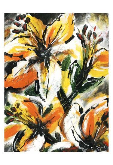 Étude Fleurs II-Pierre David-Art Print