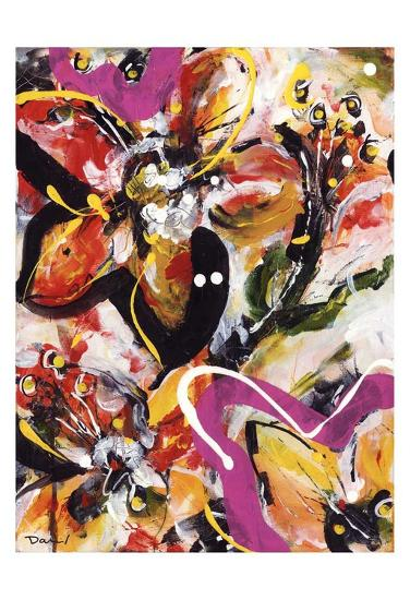 Étude Fleurs III-Pierre David-Art Print