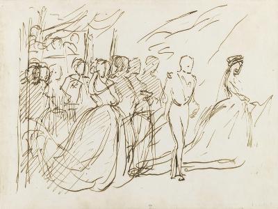Etude pour le groupe de l'Empereur et de l'Impératrice-Thomas Couture-Giclee Print