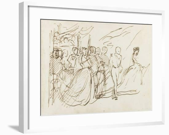 Etude pour le groupe de l'Empereur et de l'Impératrice-Thomas Couture-Framed Giclee Print