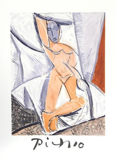 Etude pour le nu a la Draperie-Pablo Picasso-Collectable Print