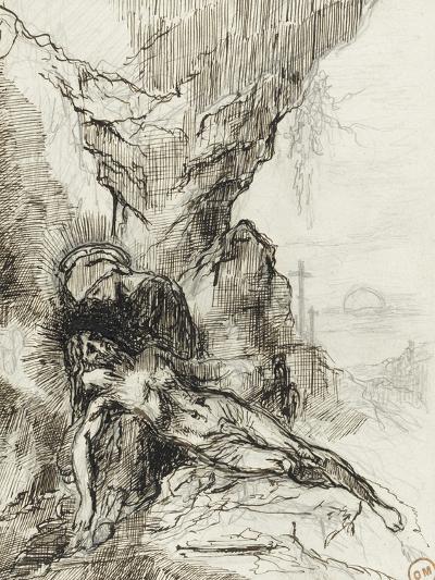 Etude pour une pietà-Gustave Moreau-Giclee Print