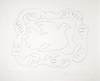 Etudes de Mains et Colombe, 51-D-Pablo Picasso-Premium Edition