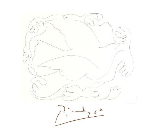 Etudes De Mains Et Colombe-Pablo Picasso-Collectable Print