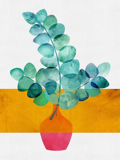 Eucalyptus And Sunshine-Modern Tropical-Art Print