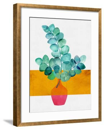 Eucalyptus And Sunshine-Modern Tropical-Framed Art Print