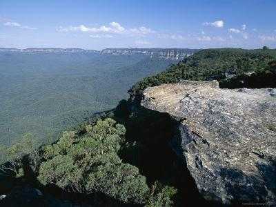 Eucalyptus Oil Haze Causes the Blueness in the View in the Blue Mountains National Park-Robert Francis-Photographic Print