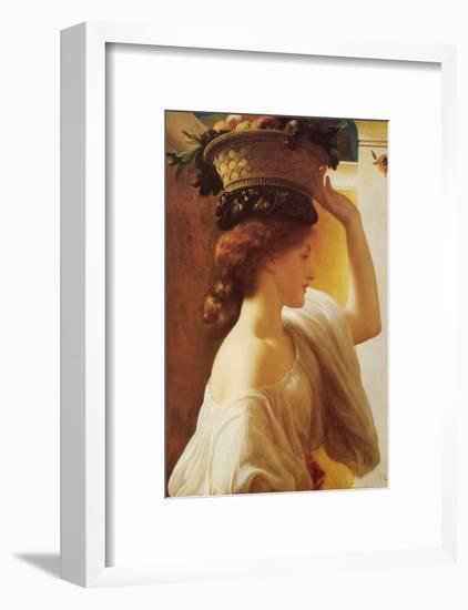 Eucharis - Girl with a Basket of Fruit-Frederick Leighton-Framed Art Print