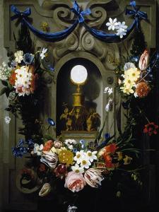 Eucharist in Garland of Flowers (Die Eucharistie Im Blumenkranz)