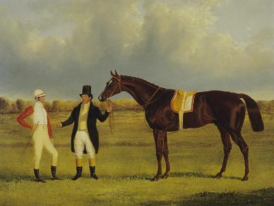 'Euclid' with His Jockey Conolly and Trainer Pettit-John Frederick Herring I-Giclee Print