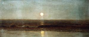 Coastal Sunset by Eug?ne Boudin