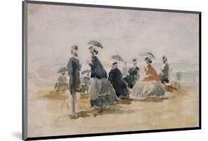 Les Crinolines by Eug?ne Boudin