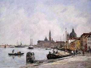 The Quay on Giudecca, Venice, 1895 by Eug?ne Boudin
