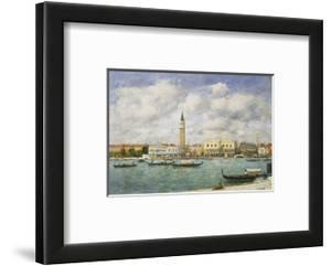 Venice, Campanile, St Mark's View of the Canal from San Giorgio by Eug?ne Boudin