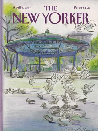 The New Yorker Cover - April 6, 1987 by Eug?ne Mihaesco