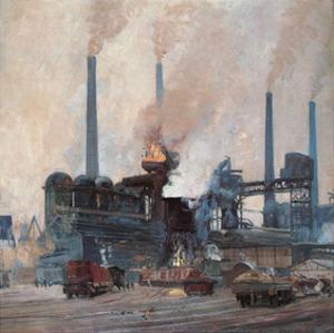 Blast Furnace of Hoesch Steel by Eugen Bracht
