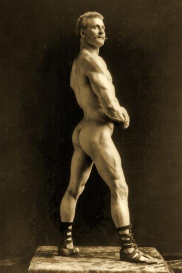 Eugen Sandow, in Classical Ancient Greco-Roman Pose, C.1893-Napoleon Sarony-Photographic Print