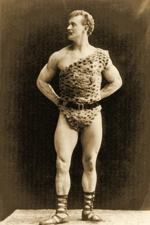 Eugen Sandow, in Classical Ancient Greco-Roman Pose, C.1897--Photographic Print