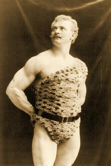 Eugen Sandow Wearing Leopard Skin, in Classical Ancient Greco-Roman Pose, C.1894--Photographic Print