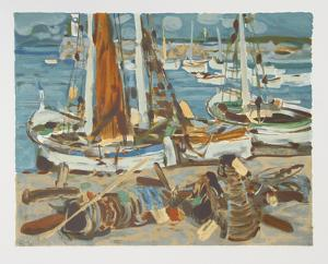 Sailboats by Eugene Baboulene