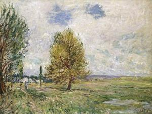 La Plaine De Veneux-Nadon, 1881 by Eugène Boudin