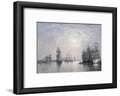 Le Havre, Eure Basin, Sailing Boats at Anchor, Sunset; Le Havre, Bassin De L'Eure, Voiliers a…