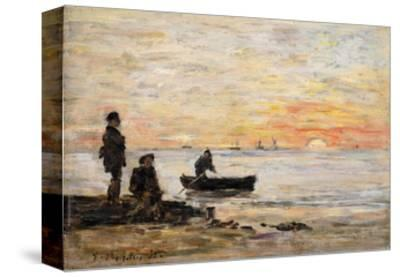 Low Tide - Shore and Fishermen at Sunset